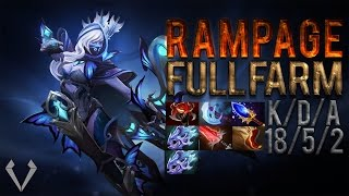 Repeat youtube video Dota 2 6 86 Drow Ranger Rampage Full Farm