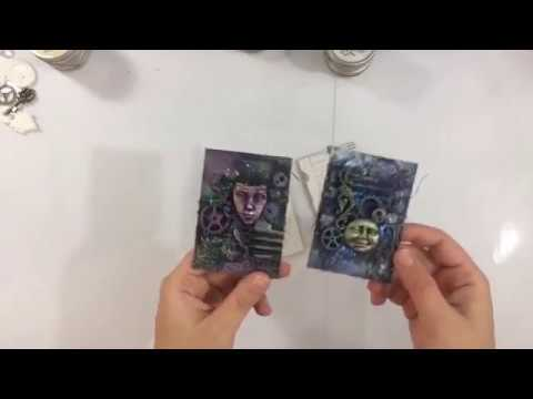 FacebookLIVE - Mixed Media ATC's met Finnabair en Dutch Doobadoo