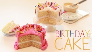 Birthday Cake - Miniature Polymer Clay Tutorial Thumbnail