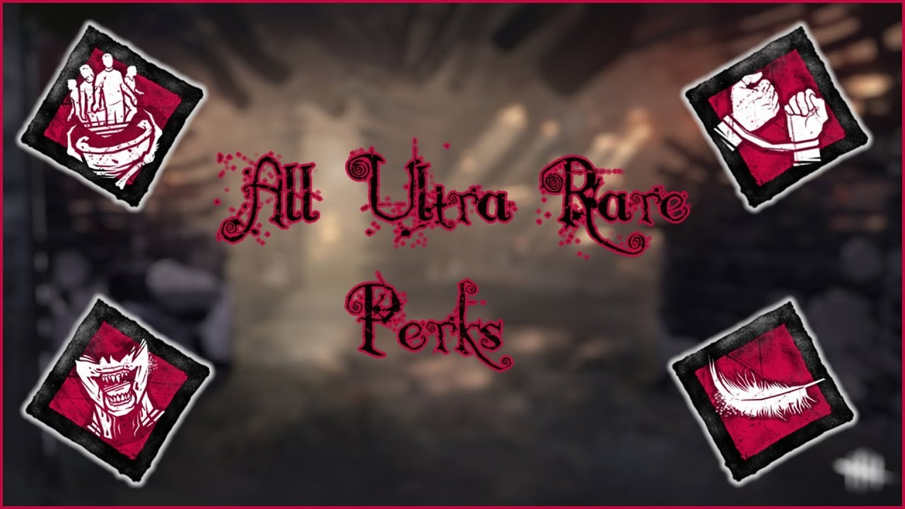 Dead By Daylight Ultra Rare Perk Icons Demonstration (Download In  Description)