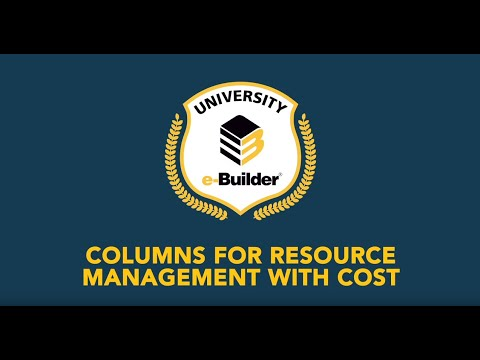 Training Videos On-Demand: Resource Management with Cost – Demo of New Columns