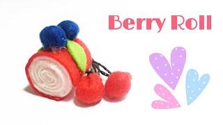 BERRY ROLL FELT CAKE TUTORIAL | FELT SWEETS CAKE