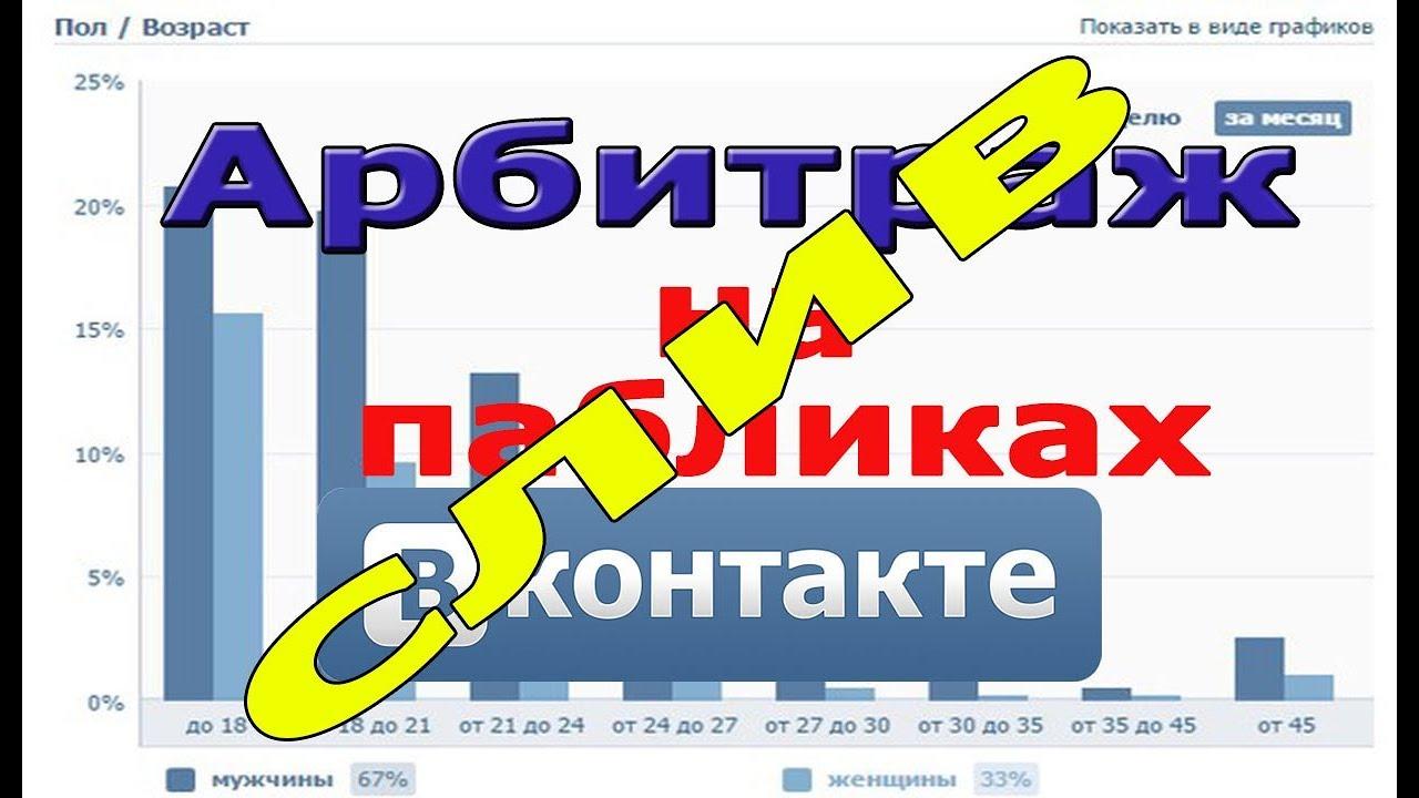 Арбитраж трафика ВКонтакте — как сливать в плюс с пабликов