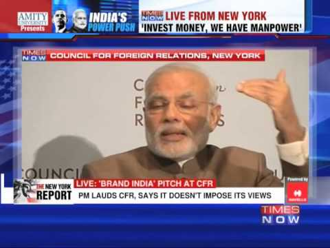 Narendra Modi addresses the Council on Foreign Relations - Part 2