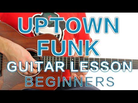 ► Uptown Funk - Mark Ronson ft. Bruno Mars - Guitar Lesson (Beginners) ✎ Free Tab
