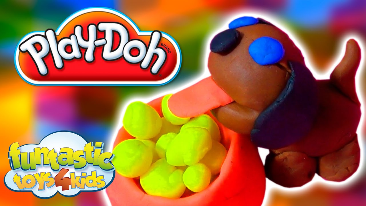 how to make a dog out of play doh