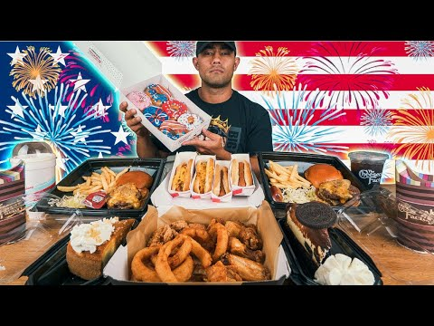 12000 Calorie 4th of July Feast | Happy Independence Day Challenge