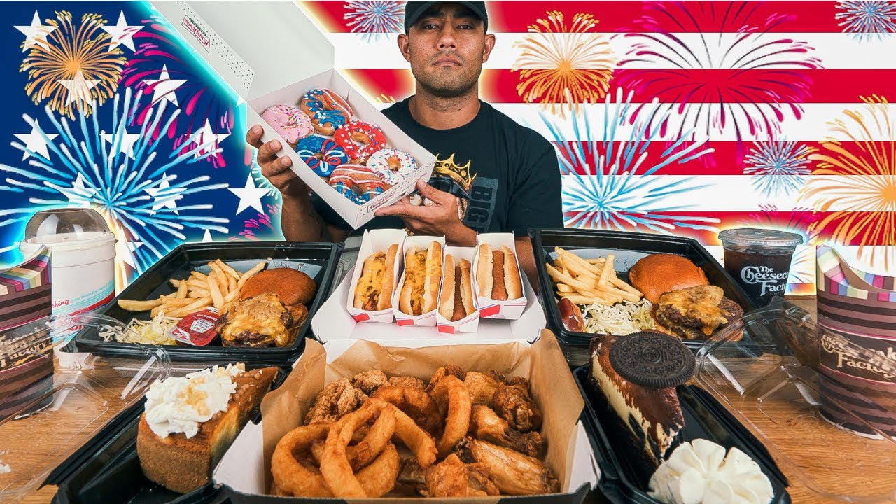12000 Calorie 4th of July Feast   Happy Independence Day Challenge