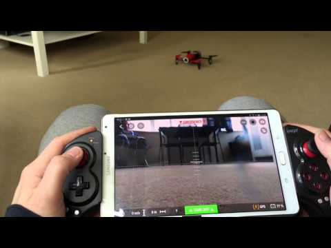 Bebop Parrot Drone and the ipega Bluetooth Telescopic Controller