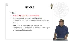 Hyper Text Markup Language (HTML5).© UPV