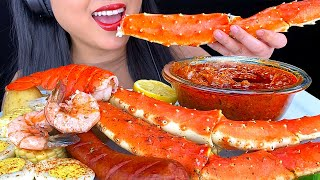 GIANT SEAFOOD BOIL King Crab Legs in Bloves Sauce