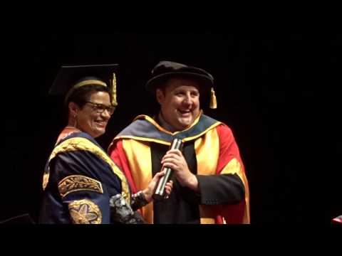 Peter Kay. Salford University. 19 July 2016. Honorary Doctorate.