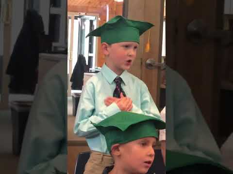 Stone's Kindergarten graduation from Cornerstone Montessori-May 2019