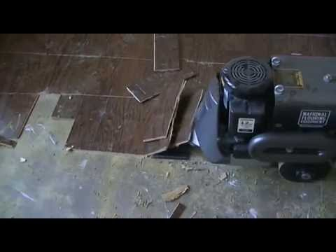 Glued Down Wood Floor Removal - Glued Down Wood Floor Removal - YouTube