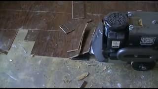 Glued Down Wood Floor Removal