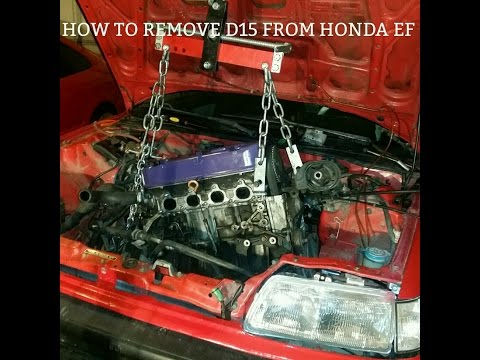 How To Remove D Series  From Honda Civic EF