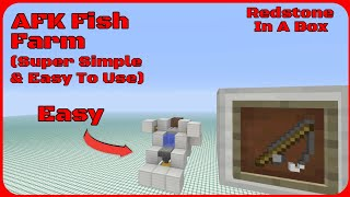 Redstone In A Box: AFK Fish Farm! (Super Simple & Easy To Use)