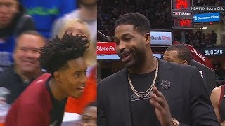 Download Video LeBron James Makes Fun Of Cavs' Channing Frye Pass To Collin Sexton! Cavaliers vs Sixers MP3 3GP MP4