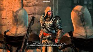 assassin s creed revelations yusuf tazim s death and ezio s speech