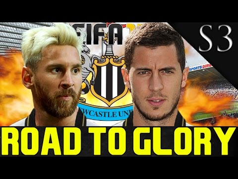 EDEN HAZARD SIGNS! FIFA 17: NEWCASTLE UNITED CAREER MODE S3 EP. 1