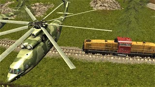Farming Simulator 17 | HELICOPTER VS TRAIN