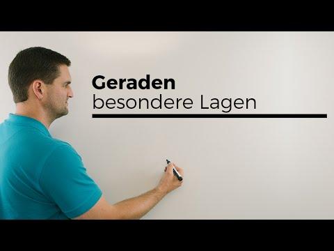 Geraden, besondere Lagen in R3, Vektorgeometrie, analytische Geometrie   Mathe by Daniel Jung