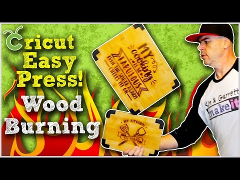 Wizardry Wood Burning with a Cricut Easy Press and Ammonium Chloride