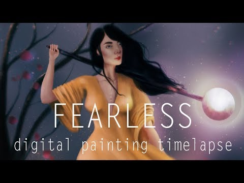 Fearless | From Greyscale to Color Digital Painting