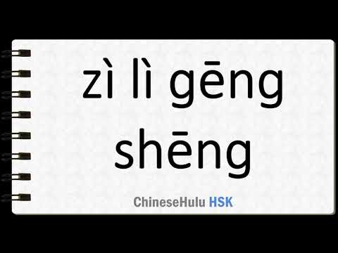 How to Say idiom self reliance in HSK Chinese