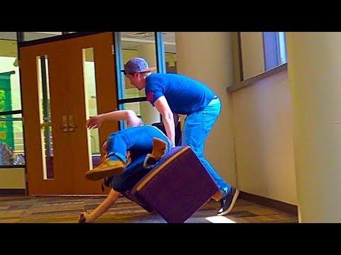 Chair Pulling Prank Part 13