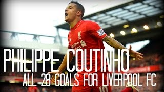 Philippe Coutinho - All 28 Goals for Liverpool FC - 2013-2016  - English Commentary (Just Goals)