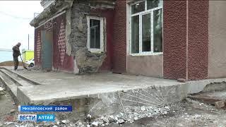 В селе Михайловское идёт ремонт спортивного зала местного лицея