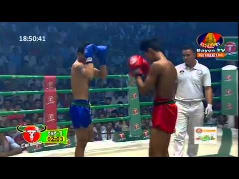 Kun Khmer Boxing   Lao Chan Trea Vs Thai   Bayon Boxing 14 June 2015