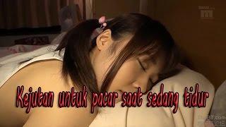 Kejutan untuk pacar saat sedang tidur