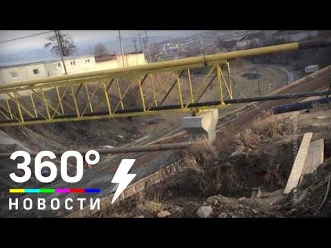 В Дагестане рухнул строящийся мост