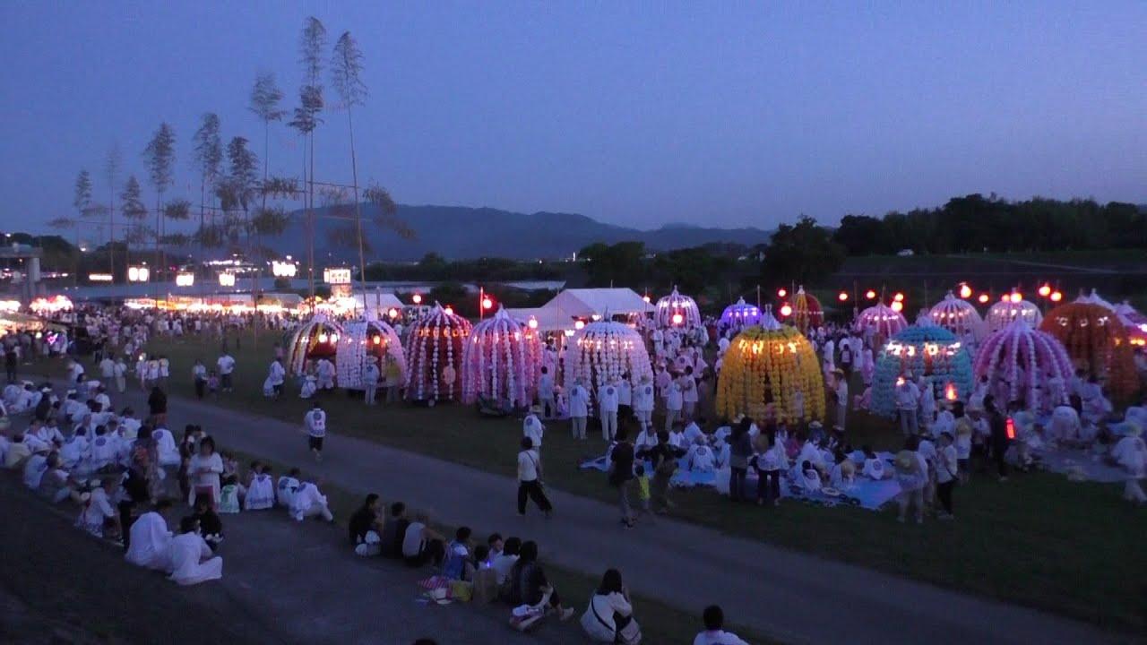 鶴市花傘鉾祭 2015年 大分県中津市 - YouTube