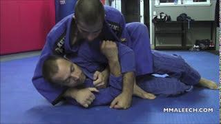 Old school choke from mount – BJJ mount attacks