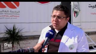 عيادة طبية متنقلة في طريقها إلى الداخل السوري