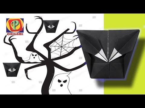 Paper Ghost Mask (DIY): Learn how to make a new mask for kids- My innovative idea| Origami