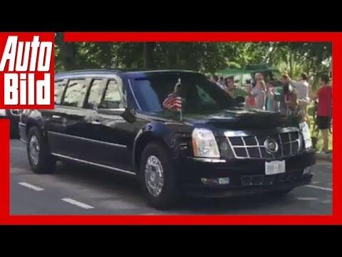 Quickshot: Cadillac No 1 - The Beast in Hamburg G20-Gipfel /GM//Trump/Limousine/gepanzert