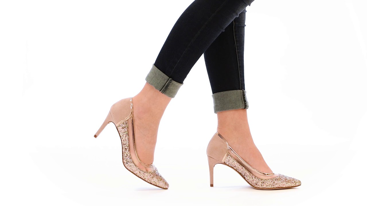 e5627e2637 Shop Journee Collection Women's 'Kalani' Almond Toe Glitter Mesh Heels -  Free Shipping On Orders Over $45 - Overstock - 17351580