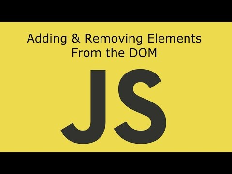 JavaScript Lesson 15 Create ,Add , Replace And Remove Elements From The DOM