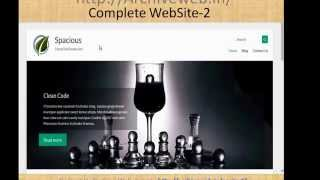 How to create free website with most beautiful wordpress spacious theme