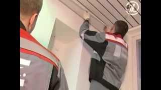 видео алюминиевые потолки в ванной установка