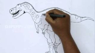 How to Draw an Abelisaurus