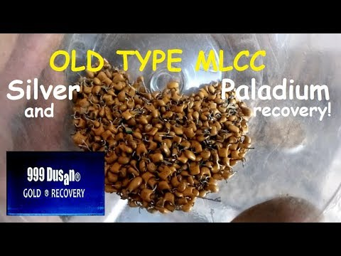 Old type MLCC - Paladium & Silver recovery!