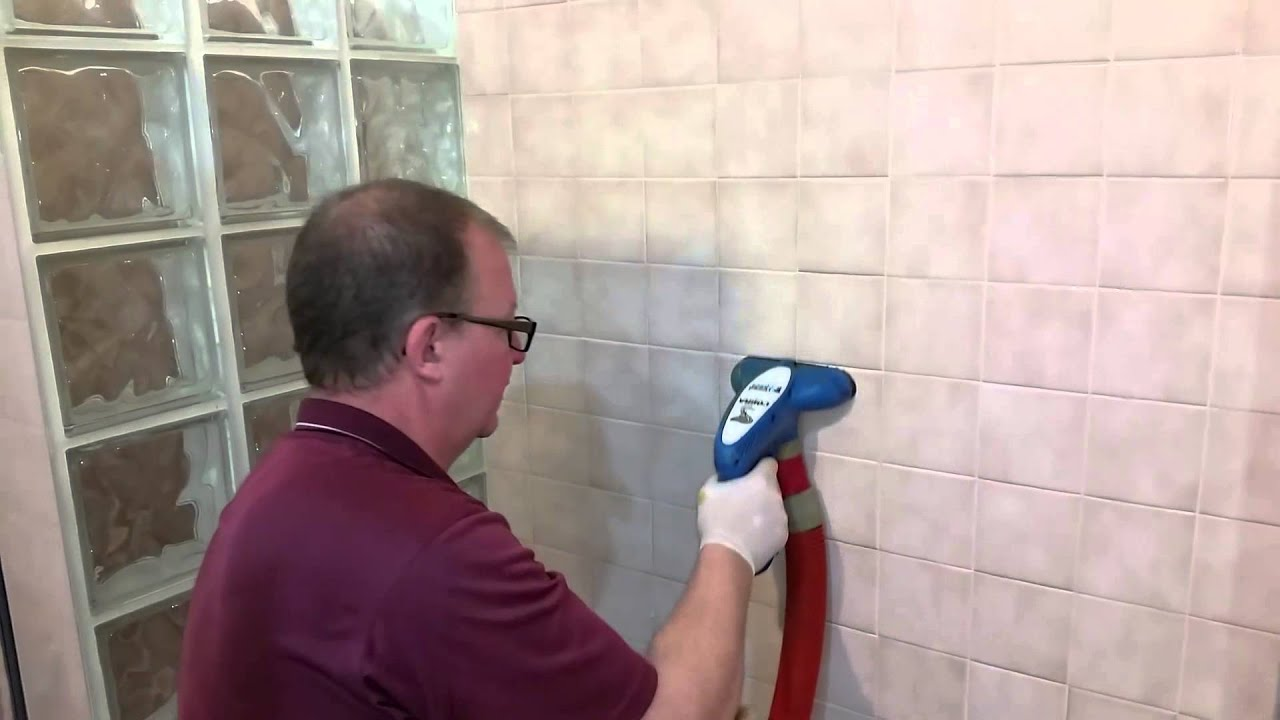 How We Professionally Clean Tile And Grout That Has Soap Scum - Bathtub mildew removal