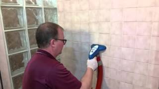 How to professionally clean tile and grout that has soap scum, mildew, and mold