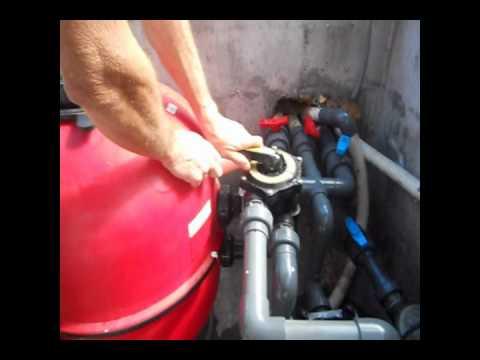 Lavage du filtre de la piscine premi re utilisation ma for Amorcer pompe piscine