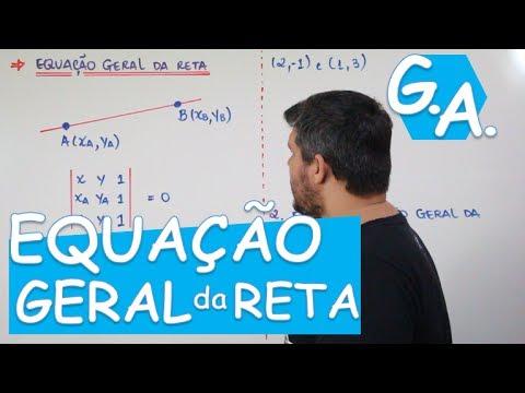 Download G. A. EQUAÇÃO GERAL DA RETA (c/ macete)
